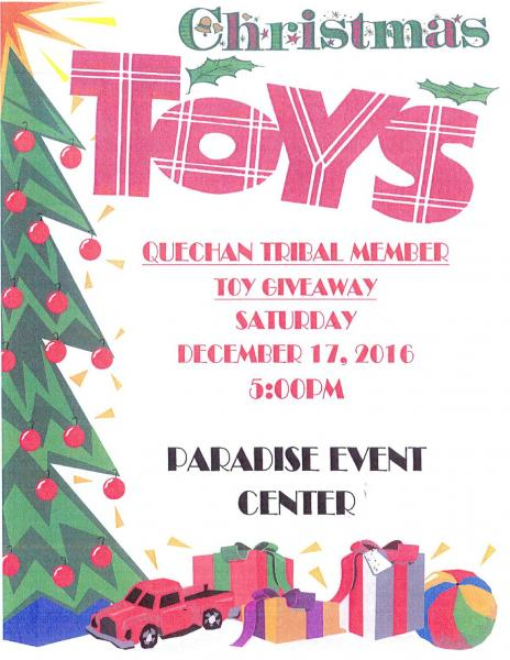 Christmas Giveaway Flyer.Christmas Toy Giveaway Fort Yuma Quechan Indian Tribe
