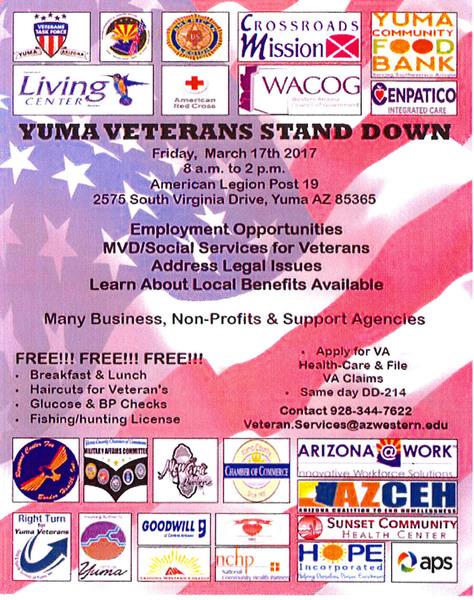 Yuma Veterans Stand Down Fort Yuma Quechan Indian Tribe